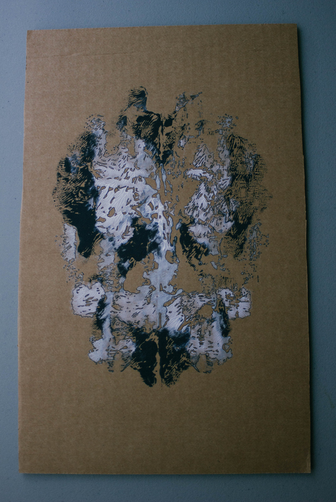 Decalcomania Acrylic on Cardboard – Kirsten Whitney